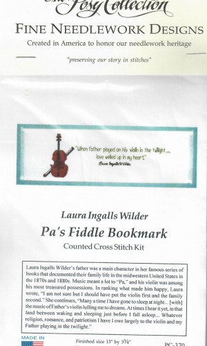 Pa's Fiddle Cross Stitch Bookmark Kit 1