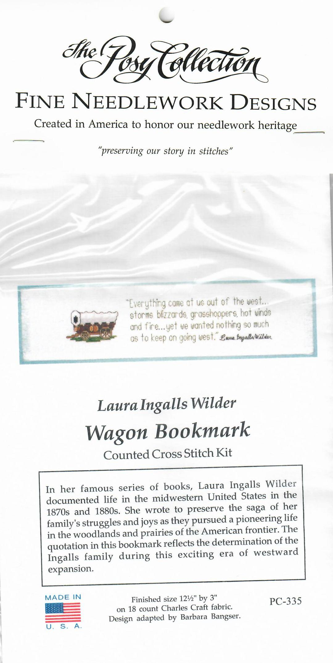Wagon Counted cross-stitch bookmark kit