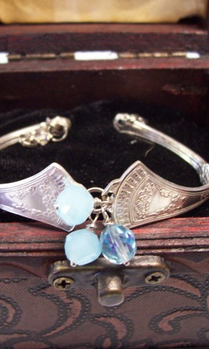 silverware bracelet blue