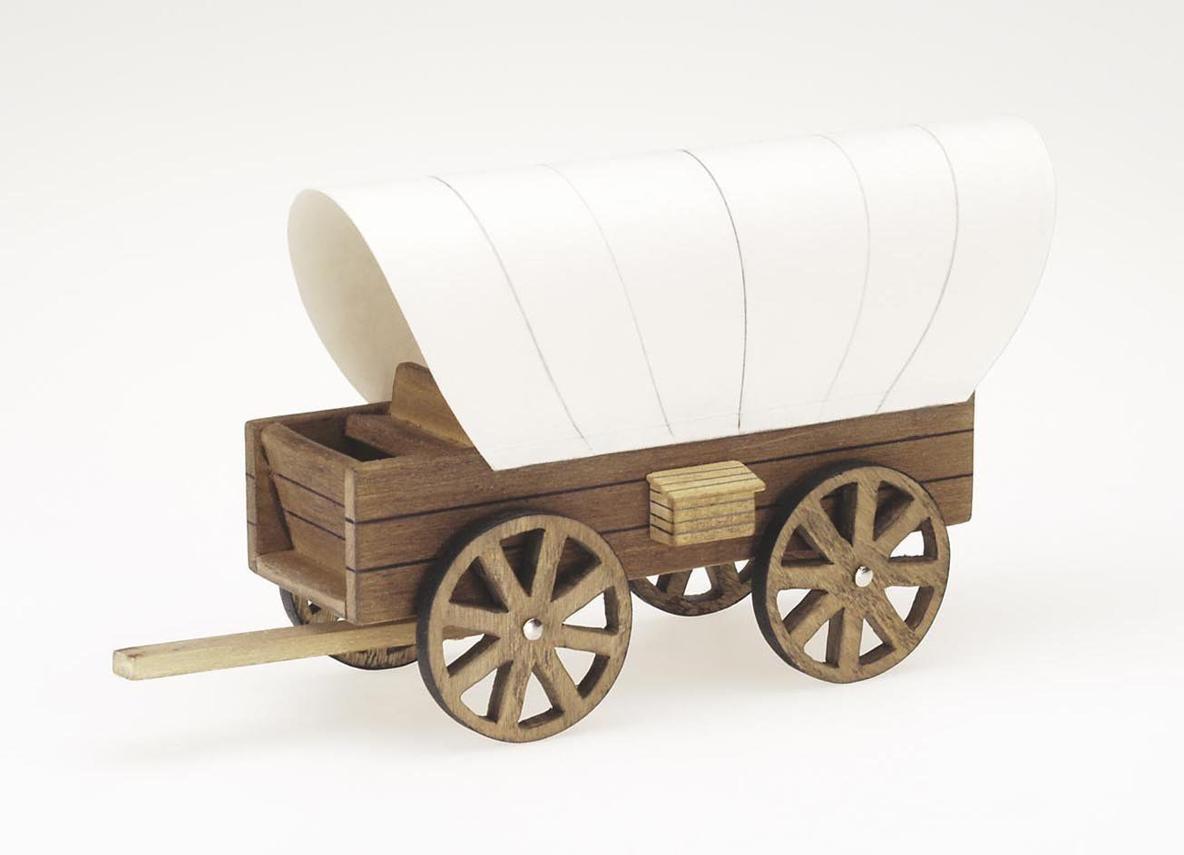 Wood Model Kit – Covered Wagon – 2 5 x 4 5 inches
