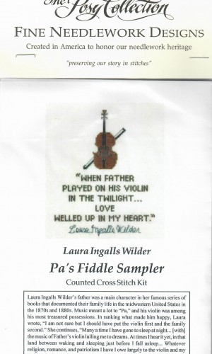 Pa's Fiddle Sampler Cross Stitch
