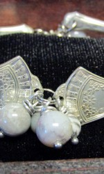 silverware bracelet gray stone