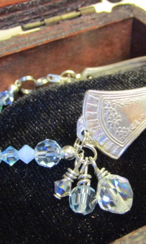 silverware bracelet light blue
