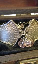 silverware bracelet two piece light pink