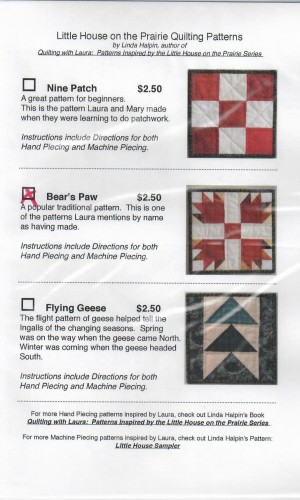 Bear's Paw Quilting Pattern