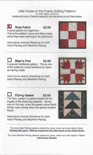 Nine Patch Quilting Pattern