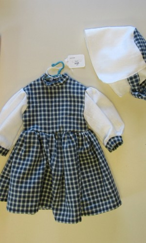 doll dress plaid