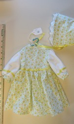 doll dress yellow